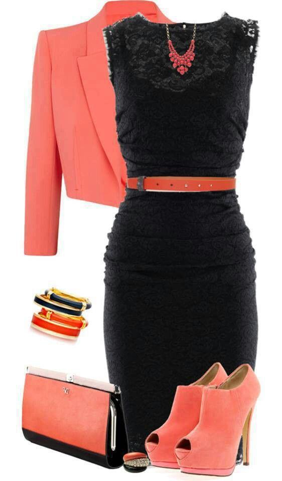 с чем носить черное платье 11