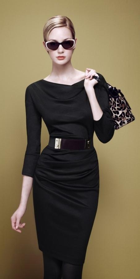 с чем носить черное платье 13