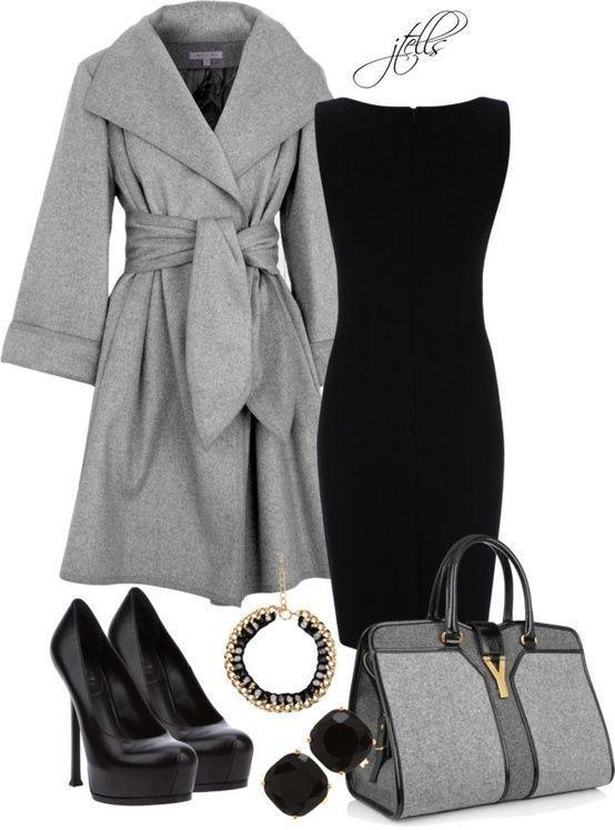 с чем носить черное платье 14