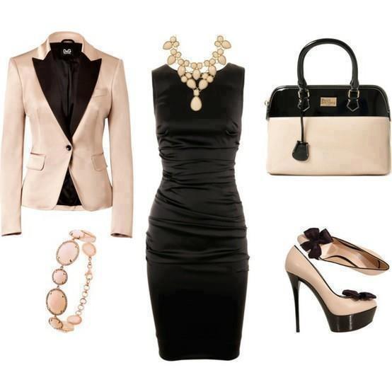 с чем носить черное платье 16