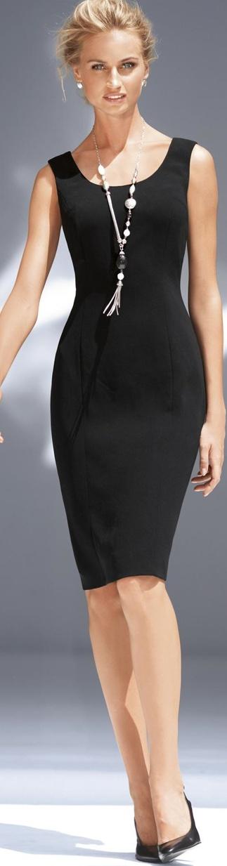 с чем носить черное платье 26