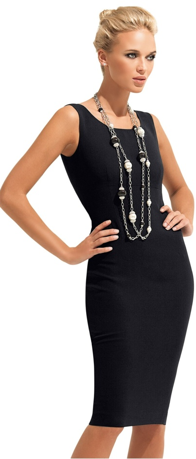 с чем носить черное платье 27