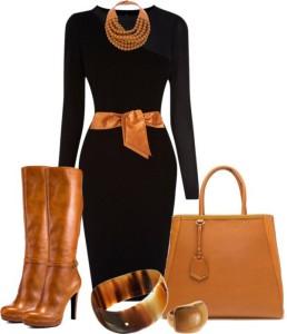 C чем носить черное платье?