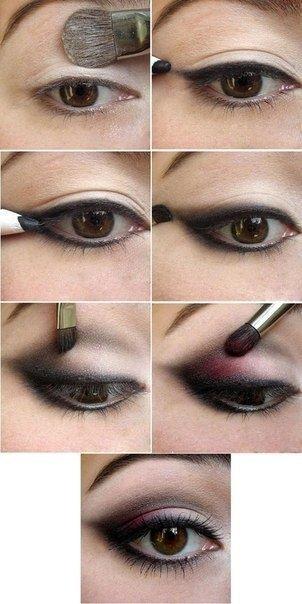 макияж для карих глаз фото 13