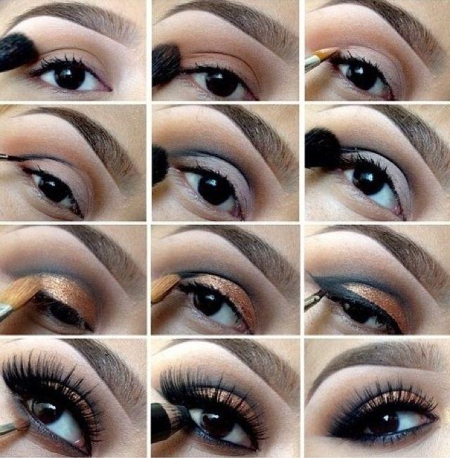 Как сделать красивый макияж черными тенями видео