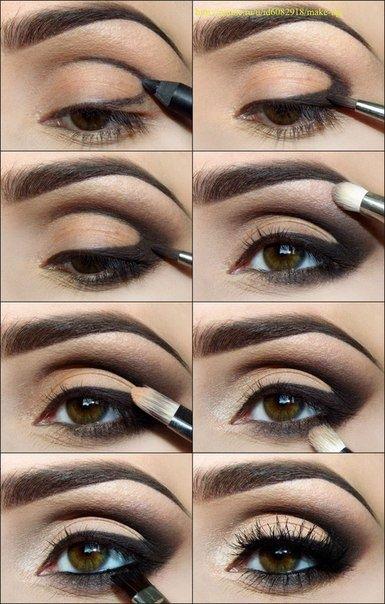 макияж для карих глаз фото 19