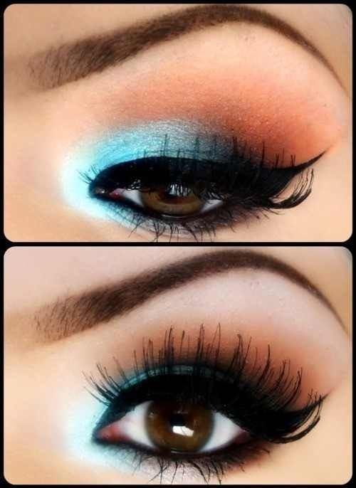макияж для карих  глаз фото 9