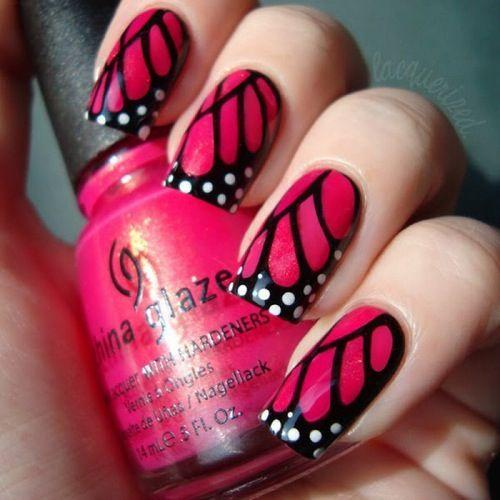 рисунок бабочка на ногтях  butterfly nail designs 10