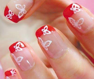 рисунок бабочка на ногтях  butterfly nail designs 12