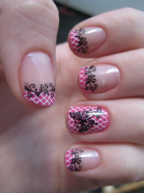 рисунок бабочка на ногтях  butterfly nail designs 13