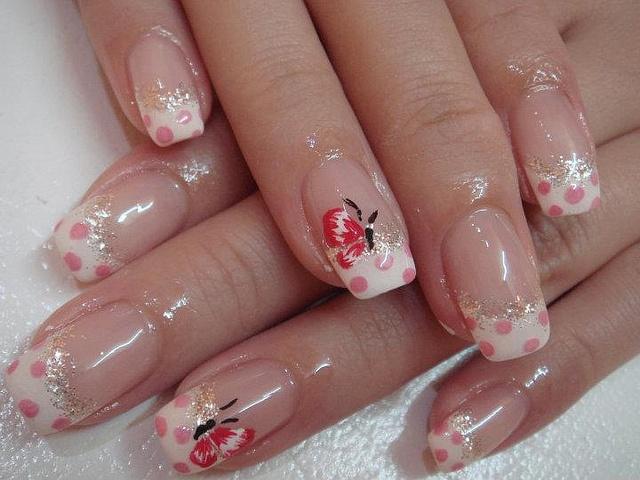 рисунок бабочка на ногтях  butterfly nail designs 16
