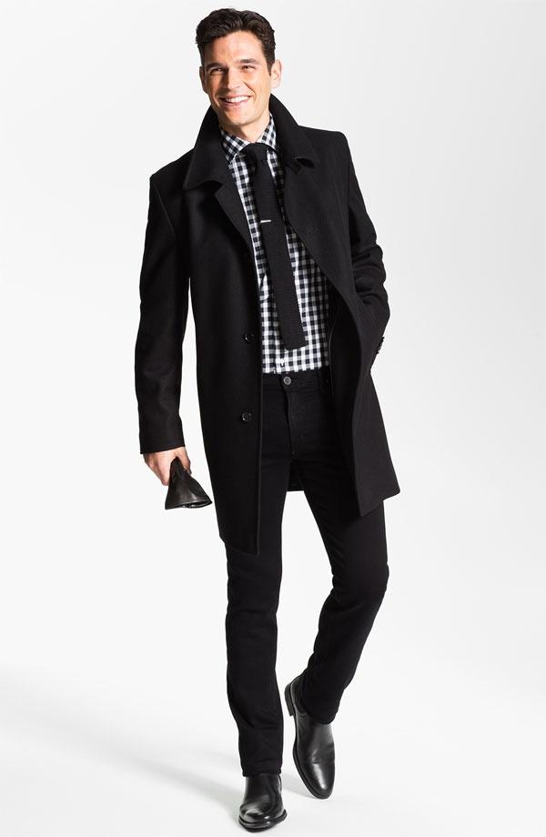с чем носить мужское пальто 01