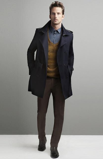 с чем носить мужское пальто 03