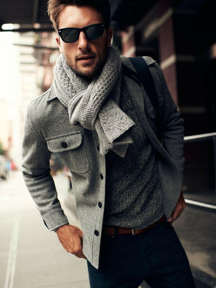 с чем носить мужское пальто 06