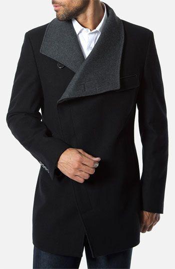 с чем носить мужское пальто 07