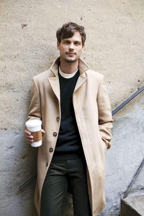 с чем носить мужское пальто 10