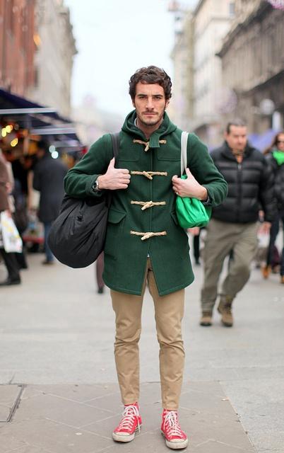 с чем носить мужское пальто 11