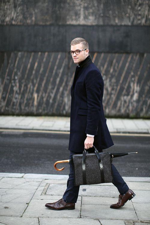 с чем носить мужское пальто 15