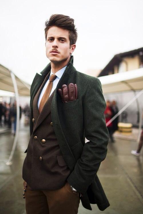 с чем носить мужское пальто 18