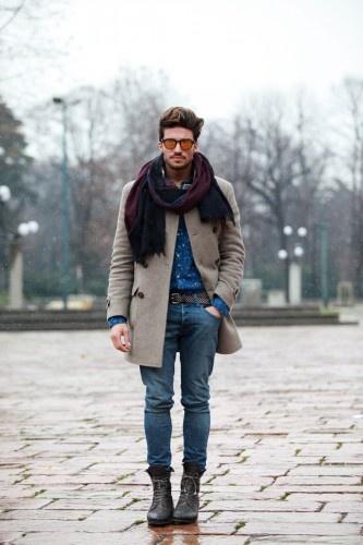 с чем носить мужское пальто 19