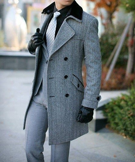 с чем носить мужское пальто 20