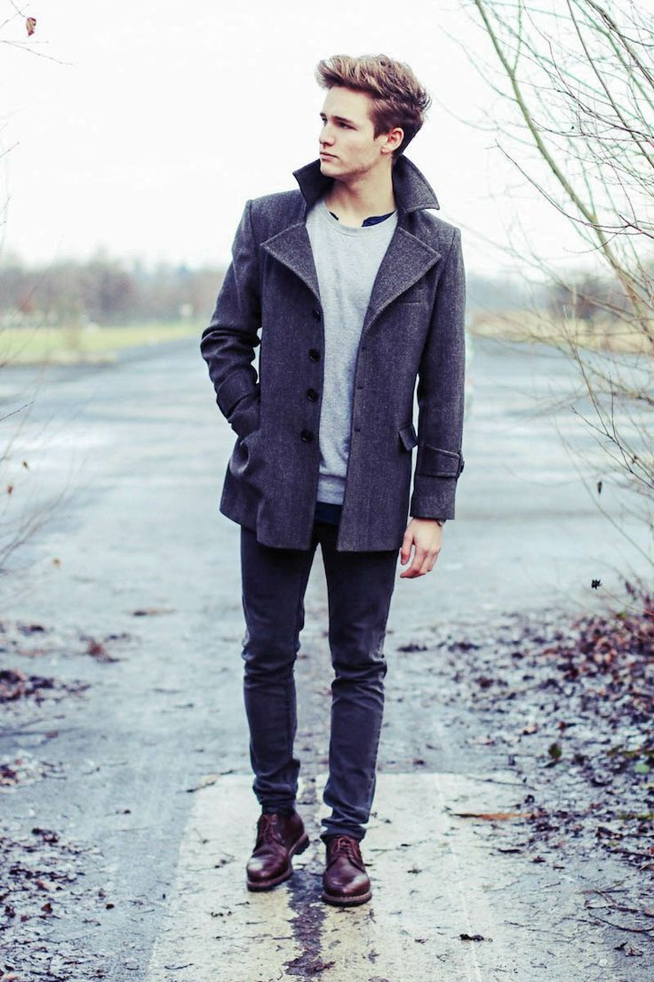 с чем носить мужское пальто 22
