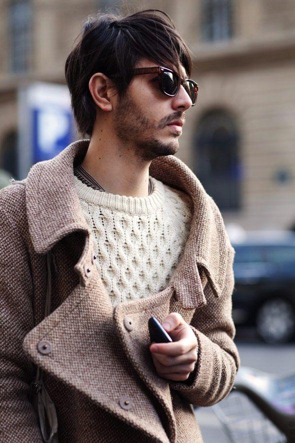 с чем носить мужское пальто 27