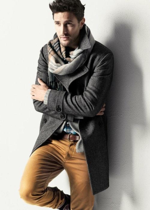 с чем носить мужское пальто 28