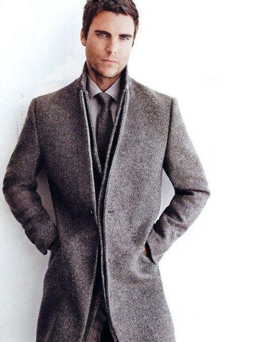 с чем носить мужское пальто 29