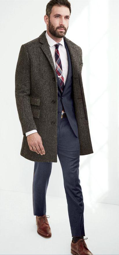 с чем носить мужское пальто 31