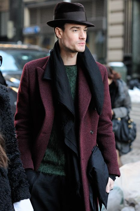 с чем носить мужское пальто 33