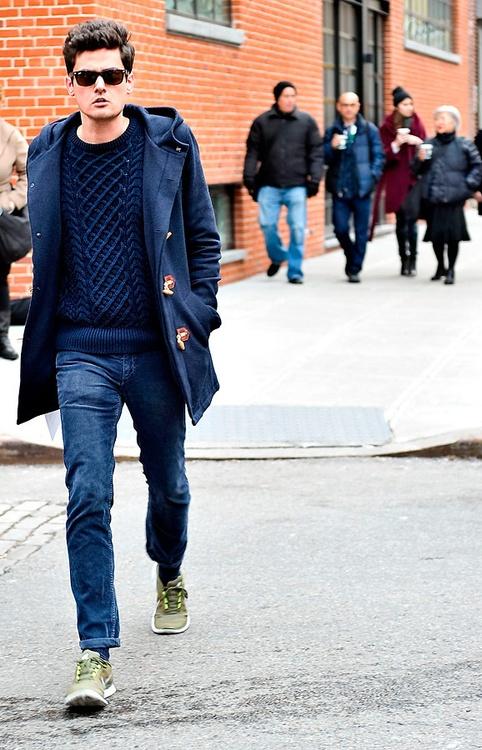 с чем носить мужское пальто 34