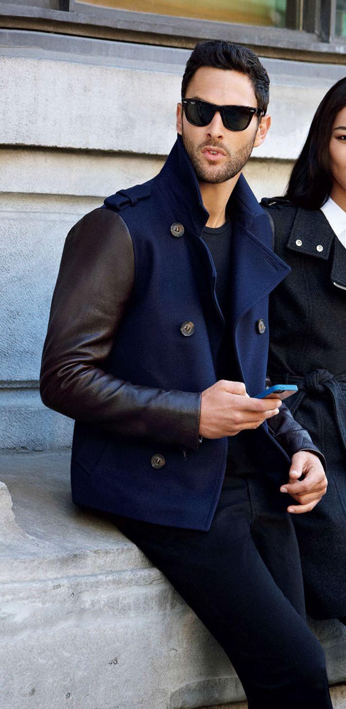 с чем носить мужское пальто 35