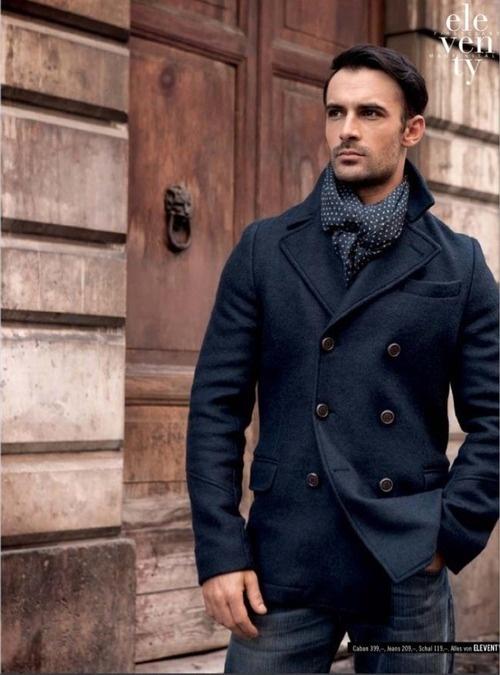 с чем носить мужское пальто 37
