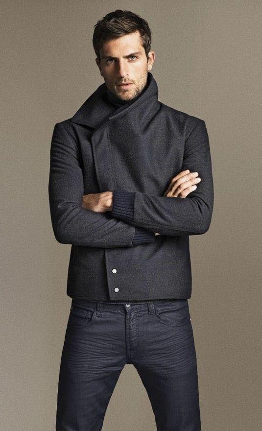 с чем носить мужское пальто 40