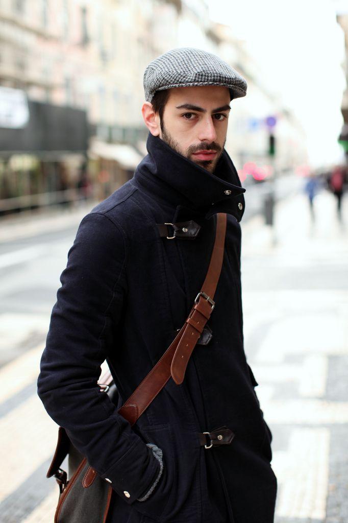 с чем носить мужское пальто 42