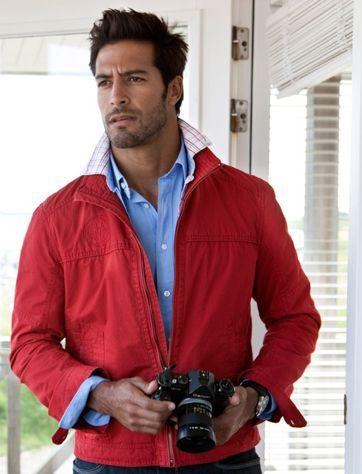 1 мужская мода стильные мужчины men in red 03