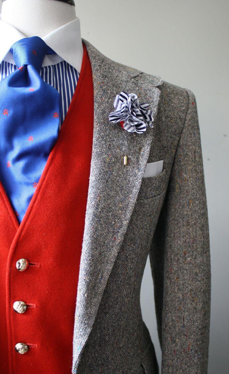 1 мужская мода стильные мужчины men in red 04