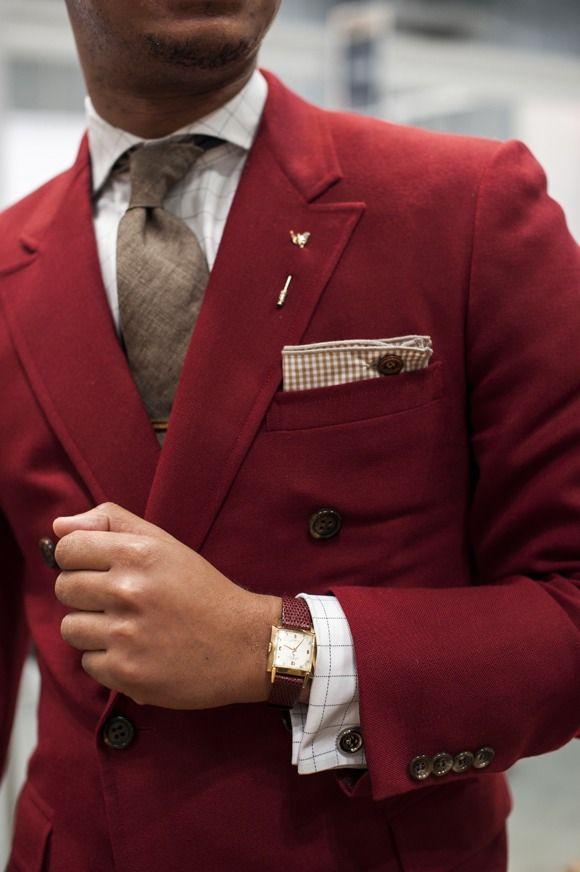1 мужская мода стильные мужчины men in red 05