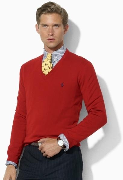 1 мужская мода стильные мужчины men in red 08