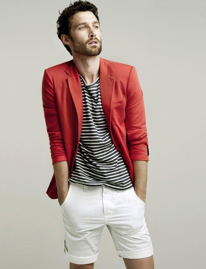 1 мужская мода стильные мужчины men in red 11
