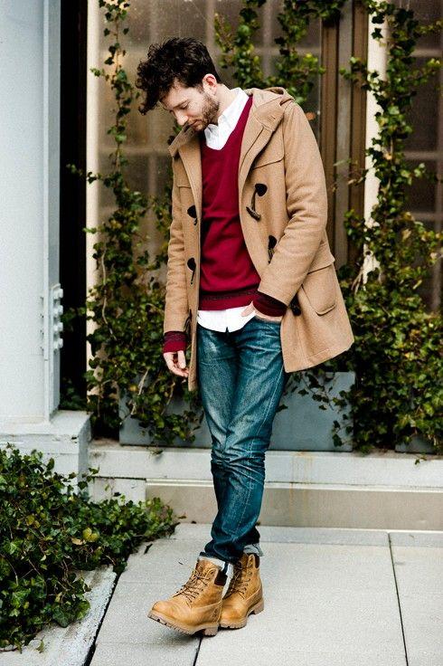 1 мужская мода стильные мужчины men in red 17
