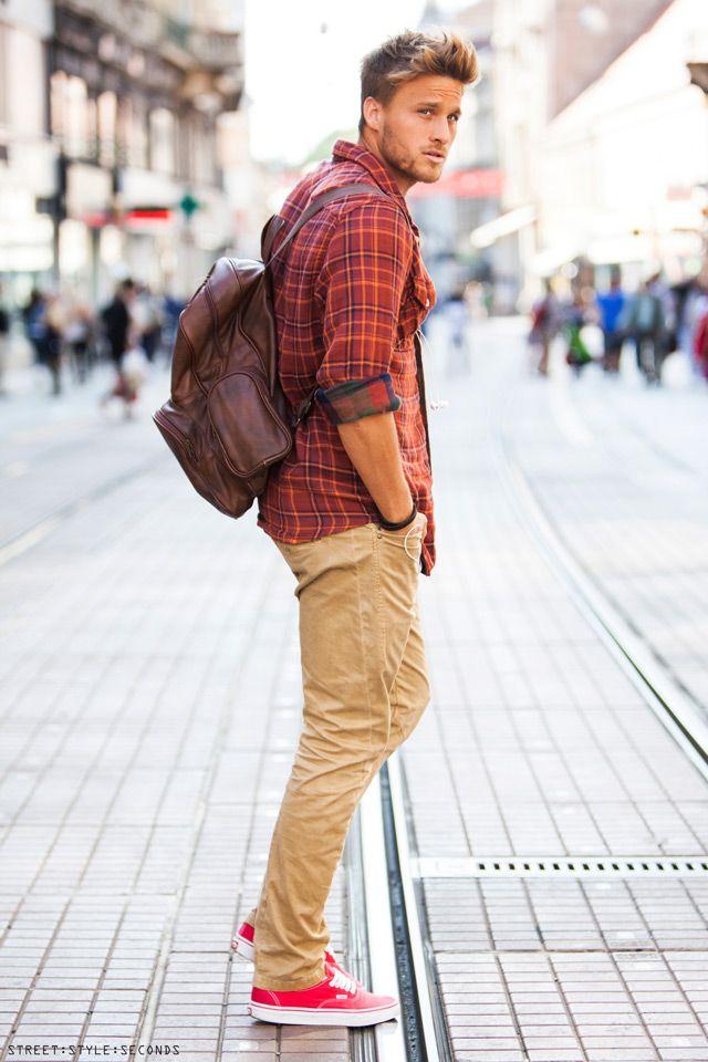 2 мужская мода стильные мужчины men in orange 02