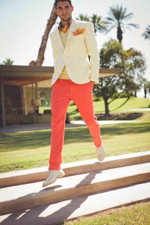 2 мужская мода стильные мужчины men in orange 04