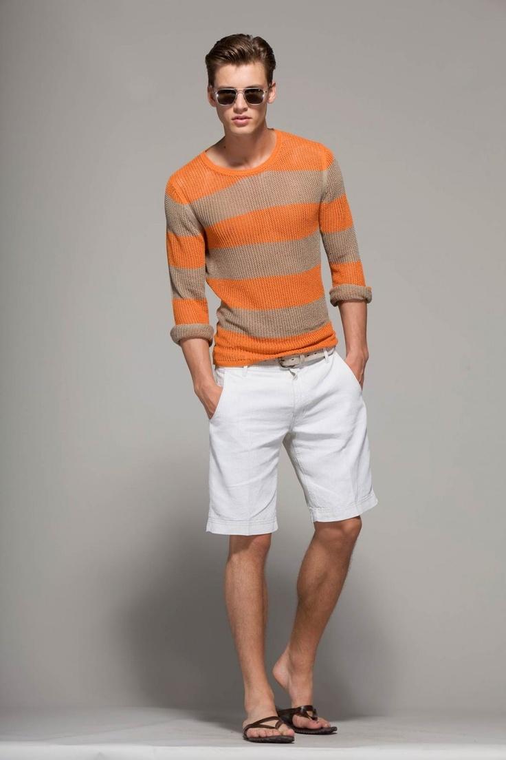 2 мужская мода стильные мужчины men in orange 06