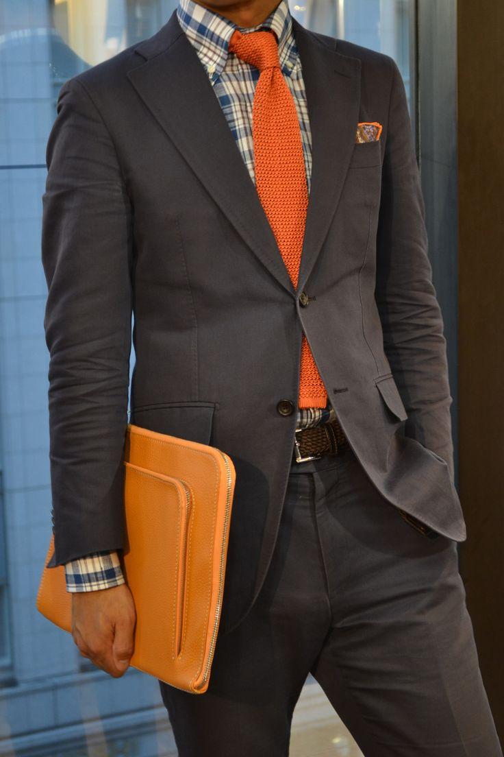 2 мужская мода стильные мужчины men in orange 11
