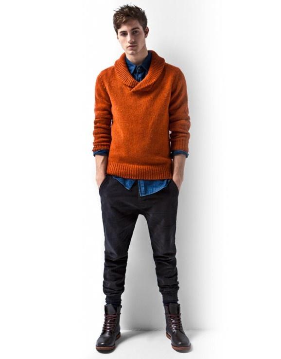 2 мужская мода стильные мужчины men in orange 13