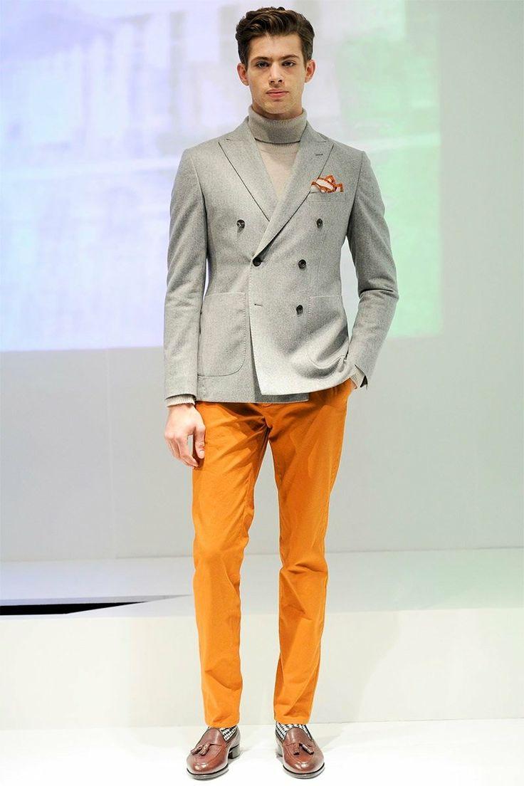 2 мужская мода стильные мужчины men in orange 14