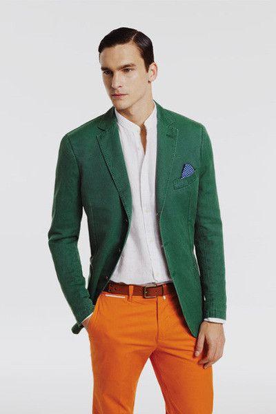 2 мужская мода стильные мужчины men in orange 16