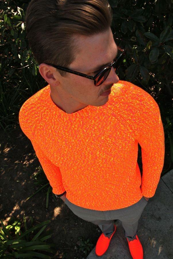 2 мужская мода стильные мужчины men in orange 17